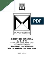 Rock Shox Mag20 Service Manuel