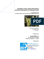 Evaluation of Gas Turbine Performance Alternatives for Indonesia Power