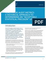 Healthcare Audit Metrics