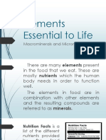 Elements Essential to Life