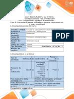 Guía de Actividades y Rubrica de Evaluación - Fase 3 - Formular Objetivos, Indicadores y Metas Coherentes Con El Mapa Estratégico