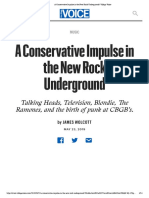 A Conservative Impulse in the New Rock Underground _ Village Voice