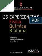 25 Experiencias de Fisica Quimica y Biologia
