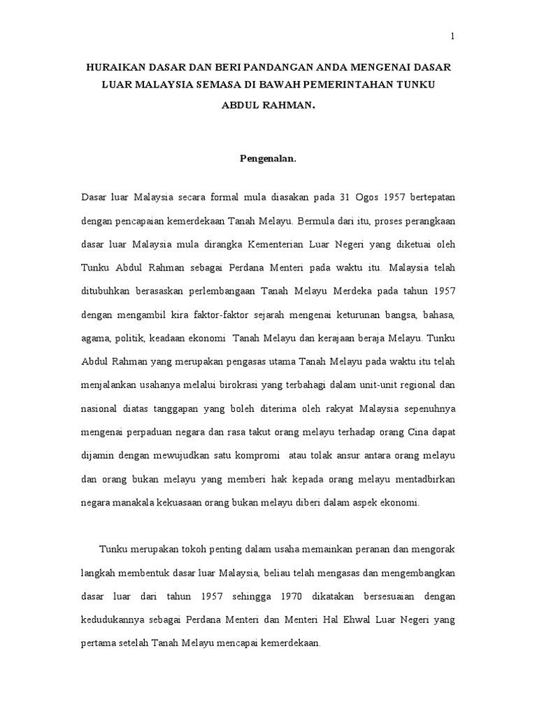 Ucapan Tunku Abdul Rahman Pada 3 Jun 1957