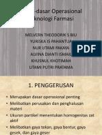 Dasar-dasar Operasional Teknologi Farmasi
