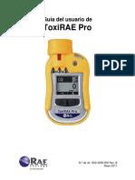 Manual ToxiRAE-Pro G02-4009-000 RevB Spanish