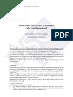 ALIQUE, Francisco Javier. Intelectuales Franciscanos y Monarquía en La Castilla Medieval