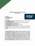 BELMARTINO Descentralización en Salud. (Mesa Redonda)