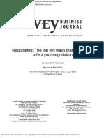 Negotiating the Top Ten Ways