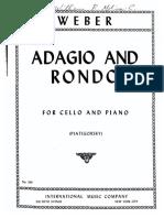 Weber - Adagio and Rondo Cello and Piano (Piatigorsky) Con Arcadas