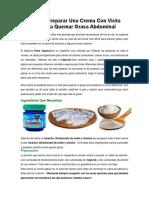 Aprende a Preparar Una Crema Con Vicks Vaporub Para Quemar Grasa Abdominal