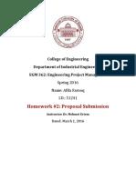Proposal Homework