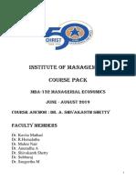ME COURSE PACK 2019- Managerial Economics