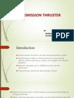 Field Emission Thruster