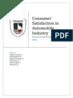 Consumer Satisfaction in Automobile Indu