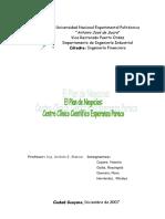 Plan Negocios Centro Clinico Cientifico Esperanza Paraco