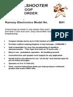 Ramsey BS1 - the Bullshooter Endless Loop Voice Recorder