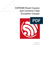 Esp8266 Reset Causes and Common Fatal Exception Causes En