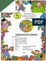 Clasificacion de Los Alimentos Caratu7ola