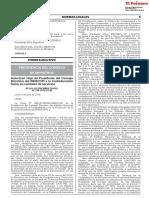 Autorizan Viaje de Presidente Del Consejo Directivo Del INDECOPI a La Confederación Suiza en Comisión de Servicios