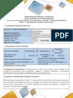 Guía de Actividades y Rúbrica de Evaluación Taller 3. Aprendizaje Colegial e Innovación