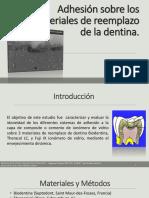 ARTICULO-Adhesión Sobre Los Materiales de Reemplazo de La