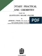 Vogel Elementary Quantitative Organic Analysis