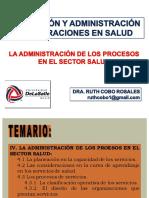 8a Sesión PyAOS La Administración de los Procesos en el Sector Salud
