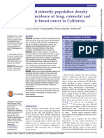 Sexual Minority Population Density and Incidence of Lung, Colorectal and Female Breast Cancer in California
