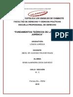 1.- Fundamentos Téoricos de Logica Juridica