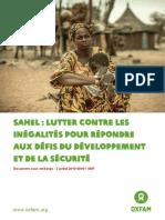 Oxfam Rapport Inégalités Sahel