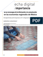 The Digital Divide and the Importance of ICT in Regional Economies of Mexico