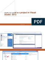 How to Creat a c Project in Visual