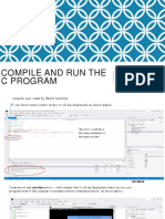 Compile and Run the c Program