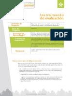 Instrumento de Evaluación - Evidencia