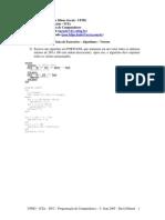 Listaexerc Algoritmos Vetor Solucao Prof