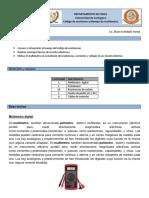 Practica N° 2 Codigo de resistencia y manejo de multimetro