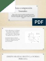 Flexo-compresión  biaxiales