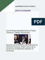 Ley de Responsabilidad Social en Radio y Televisión