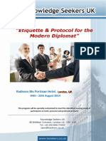 Etiquette & Protocol for the Modern Diplomat