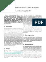 Vasu Gupta, Sharan Srinivasan, Sneha Kudli, Prediction and Classification of Cardiac Arrhythmia