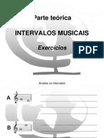exercícios sobre intervalos musicais