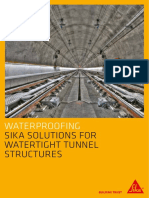 Sika Solutions for Watertight Tunnel Structures