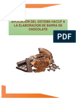 Haccp Barra de Chocolate