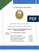 ANALISIS Y ENSAYOS DE ARENAS DE MOLDEO PARA EL PROCESO DE FUNDICIÓN