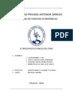 El Presupuesto Publico Del Peru