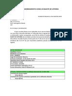 Formato y ejemplo solicitud para ser Ayudante-alumno de cátedra.
