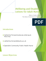 Health, Wellbeing and Disability