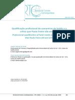 Qualificação Profissional de Camareiras / Crítica Paulo Freire