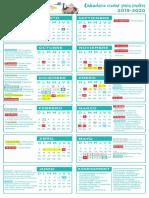 Calendario Escolar Padres 2019 2020